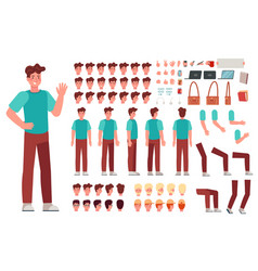 Cartoon male character kit man animation body vector