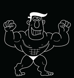Cartoon Strongman vector image