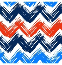Chevron pattern hand painted with bold vector