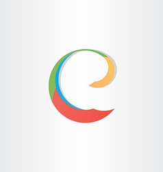 colorful letter e symbol vector image