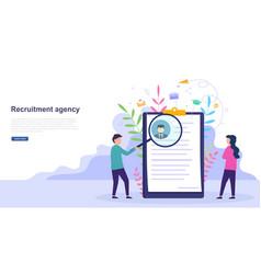 Concept of hiring recruitment agency interview vector