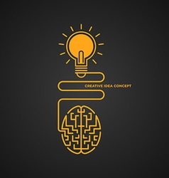 Creative idea concept brainstorm light bulb vector image