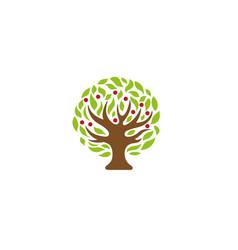 creative tree logo vector image