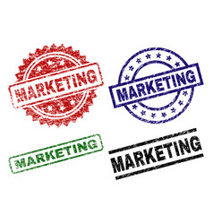 damaged textured marketing seal stamps vector image