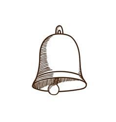 Decoration bell sketch vector image