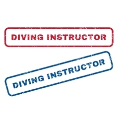 Diving Instructor Rubber Stamps vector