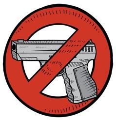 doodle guns no color vector image