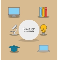 Education and academia related icons emblem vector