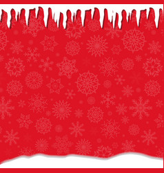 elegant winter festive red template with fallen vector image
