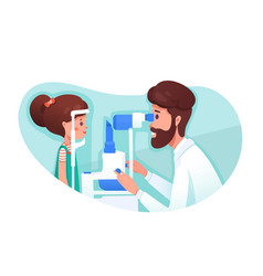 Eye clinic appointment flat vector
