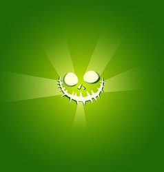 Face Devil on green background vector image