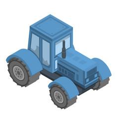 farm tractor icon isometric style vector image