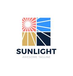 flare sun light in window logo icon vector image