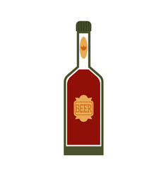 Flat beer glass bottle mochup vector