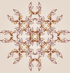 Flower henna vector image