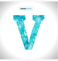 Grunge symbol font blue sketch style vector