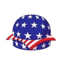 Hamburger in American flag colors cartoon icon vector image