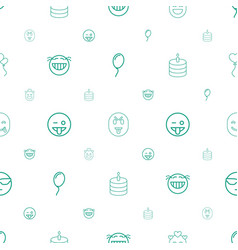 Happiness icons pattern seamless white background vector