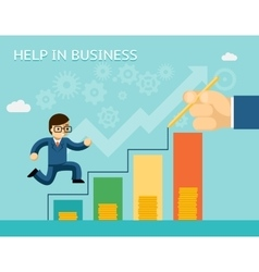 Help in business concept Partnerships and vector image vector image