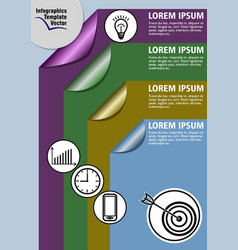 Infographic process visualization template vector
