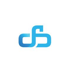 initial letter db design logo vector image