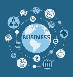 international business flat design vector image
