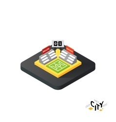 Isometric football field icon building city vector image