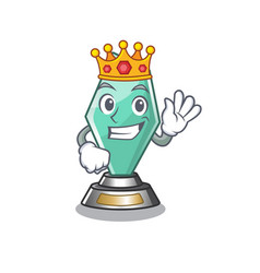 King acrylic trophy stored in cartoon drawer vector
