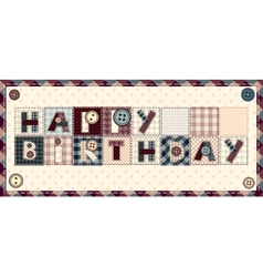 Letters Happy birthday vector image