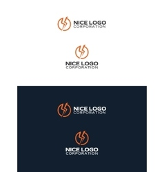 Lightning bolt logo vector