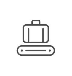 Luggage conveyor line icon vector