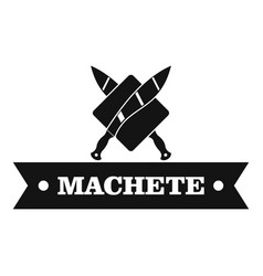 Machete logo simple black style vector