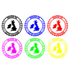 Made in british isles rubber stamp vector