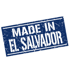 Made in el salvador stamp vector