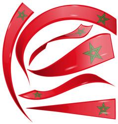marocco flag set isolated on white background vector image