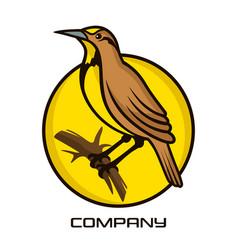 meadowlark bird logo vector image