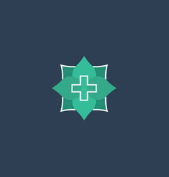 Medical logo icon design vector
