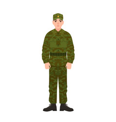 military man russian armed force wearing vector image