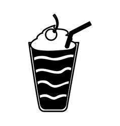 Milkshake delicious isolated icon vector