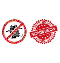 Mosaic no smoking redneck icon with textured vector