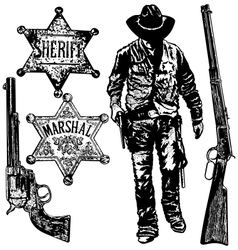 old west set vector image