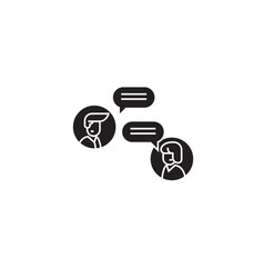 online discussion black concept icon vector image