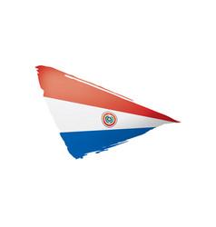 Paraguay flag on a white vector