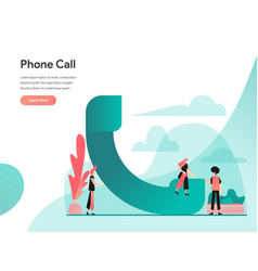 Phone call concept modern flat design concept of vector