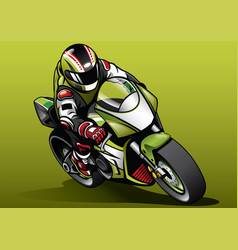 Racer ride sportbike vector