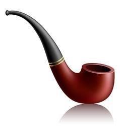 Realistic tobacco pipe vector image