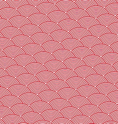 Red abstract background striped waves vector