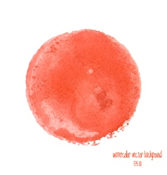 Red watercolor circle vector