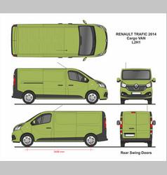 Renault trafic cargo delivery van l2h1 2014 vector