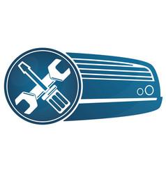Repair air conditioner vector